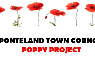 Ponteland Town Council Poppy Project Logo