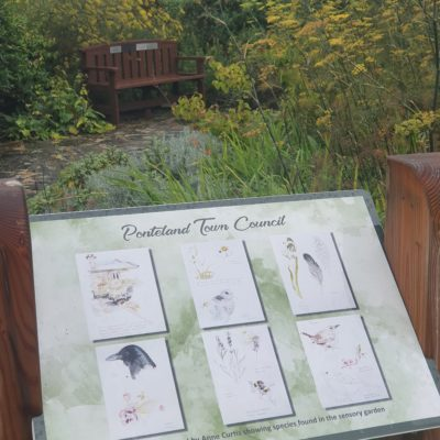 Information Board At Sensory Garden