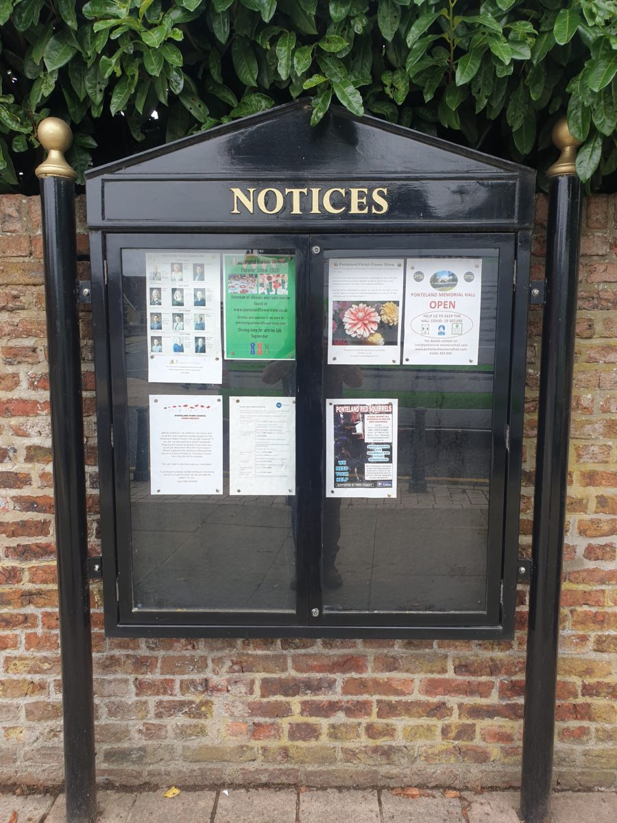 North Road Noticeboard