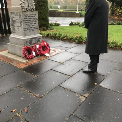 Mayor Laying Wreath
