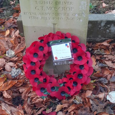 Moscrop War Grave Photo - Click to open full size image