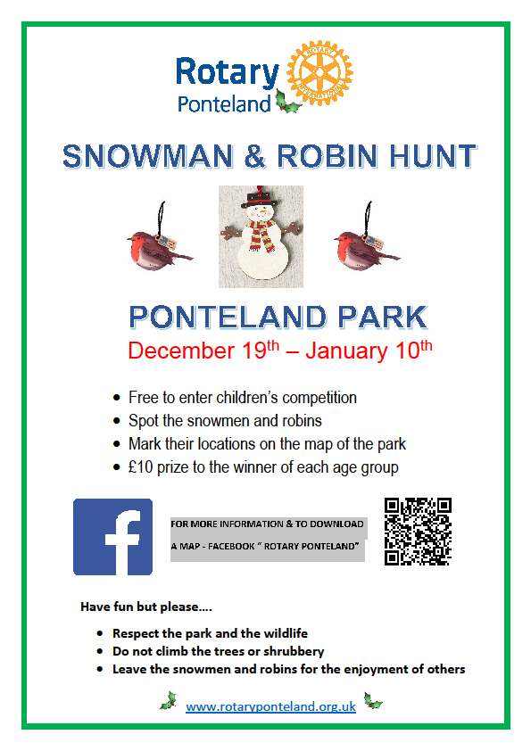 Rotary Snowman Treasure Hunt Poster