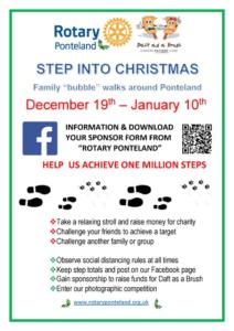 Rotary Step Into Christmas Poster